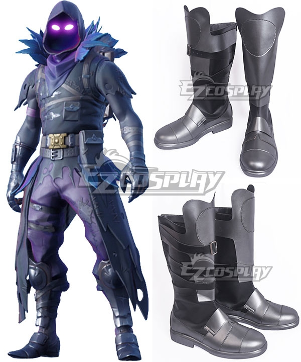 Fortnite Battle Royale Raven Sliver Shoes Cosplay Boots