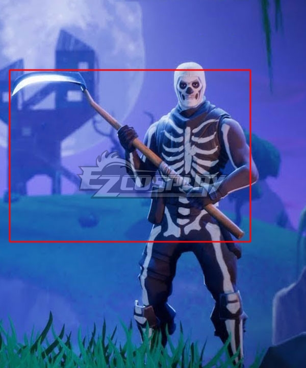 Fortnite Battle Royale Skull Trooper Pickaxe Cosplay Weapon Prop