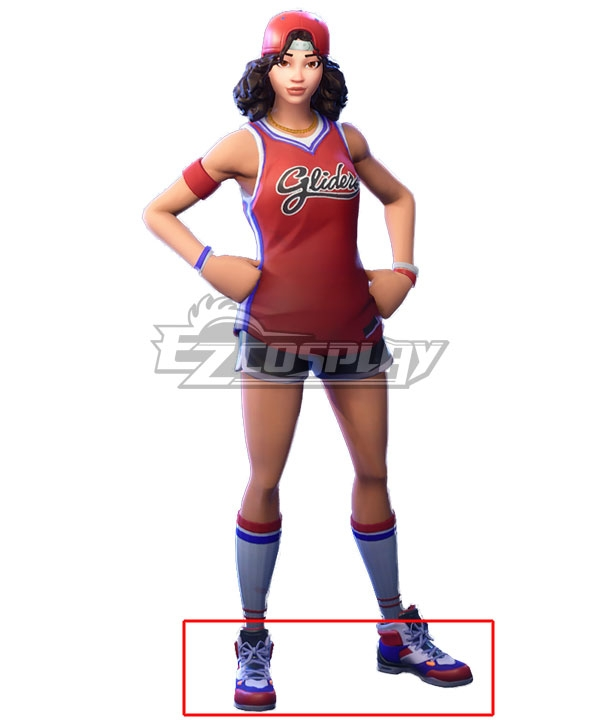 Fortnite Battle Royale Triple Threat Red blue Cosplay Shoes