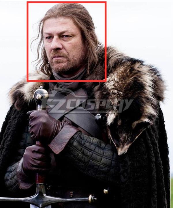 Game Of Thrones Season 8 Ned Stark Brown Cosplay Wig