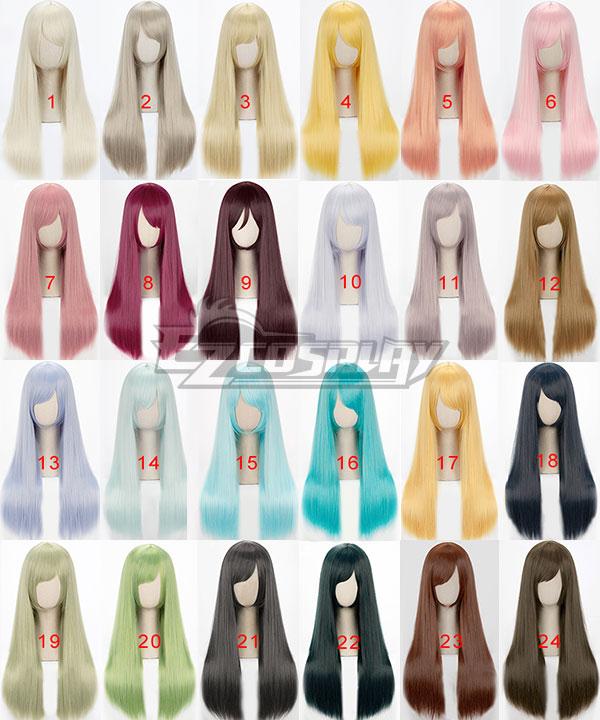 General Cosplay Multicolor Daily Long Wig 60cm