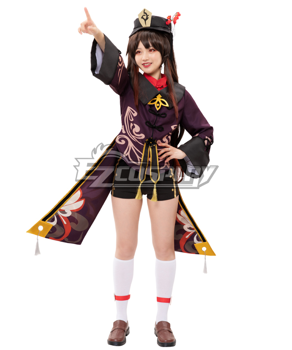 Genshin Impact Hu Tao Hutao Cosplay Costume - Purple Edition