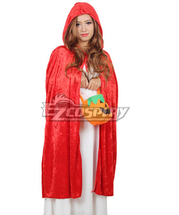 Halloween Adult Red Hat Cape Cosplay Costume - Special Sale