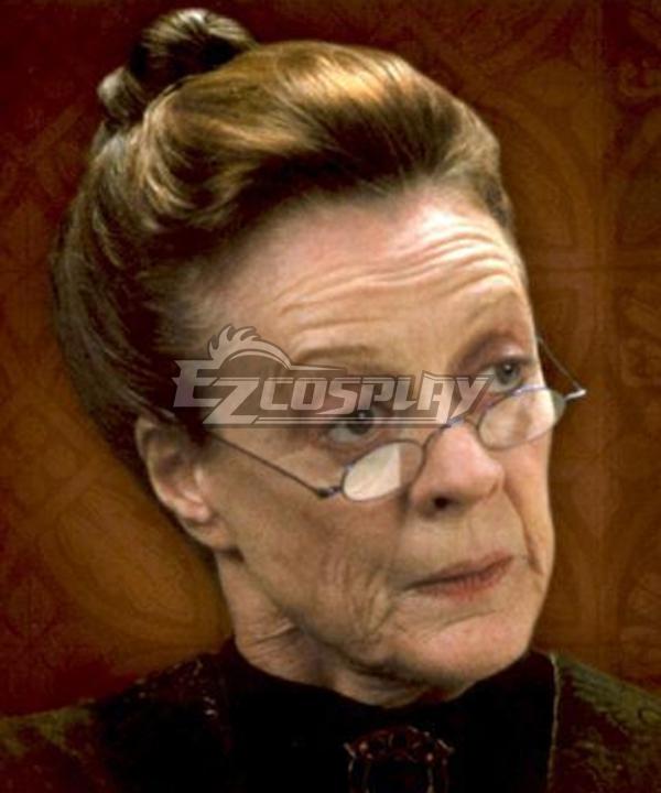 Harry Potter Professer Minerva Mcgonagall Brown Cosplay Wig