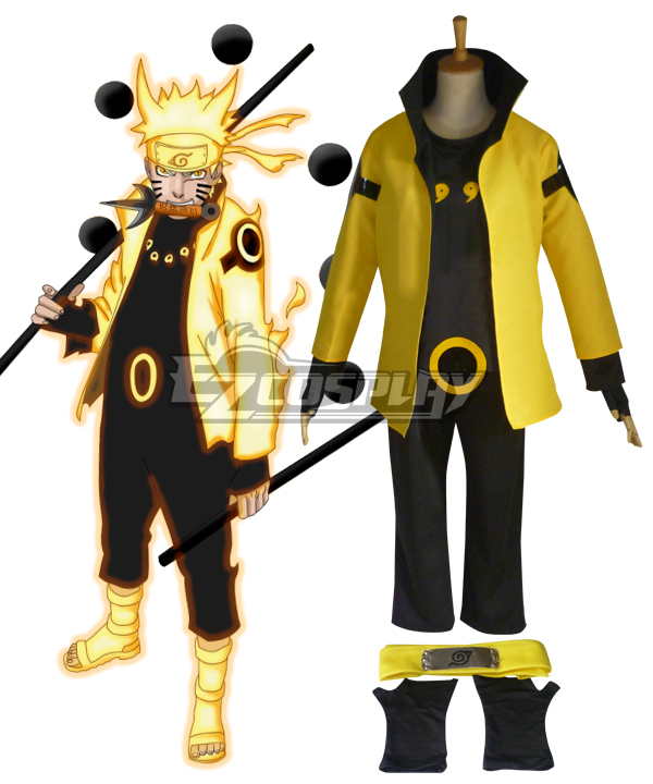Naruto Six Paths Sage Mode Cosplay Costume