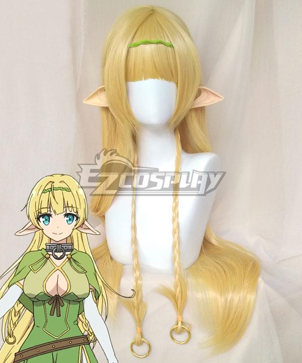 How NOT To Summon A Demon Lord Isekai Maou To Shoukan Shoujo Dorei Majutsu Shera L Greenwood Golden Cosplay Wig (No Green Headwear, No Ears)