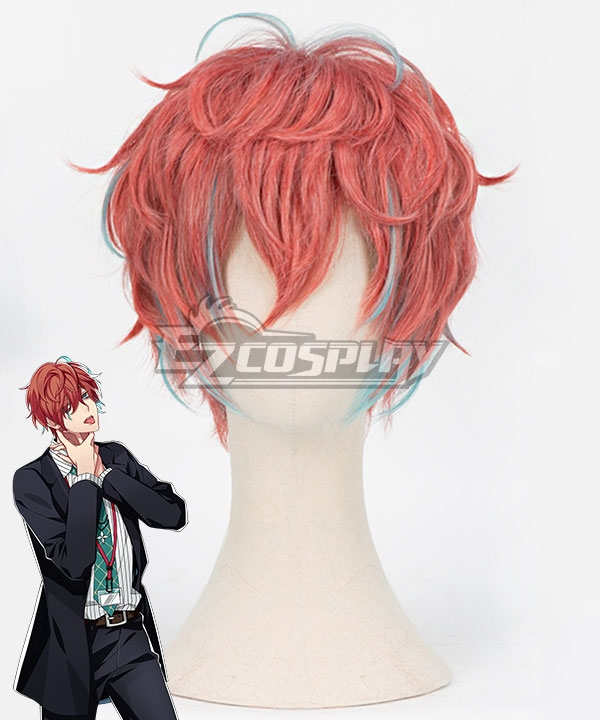 Hypnosis Mic Division Rap Battle Doppo Kannonzaka DOPPO Red Orange Cosplay Wig