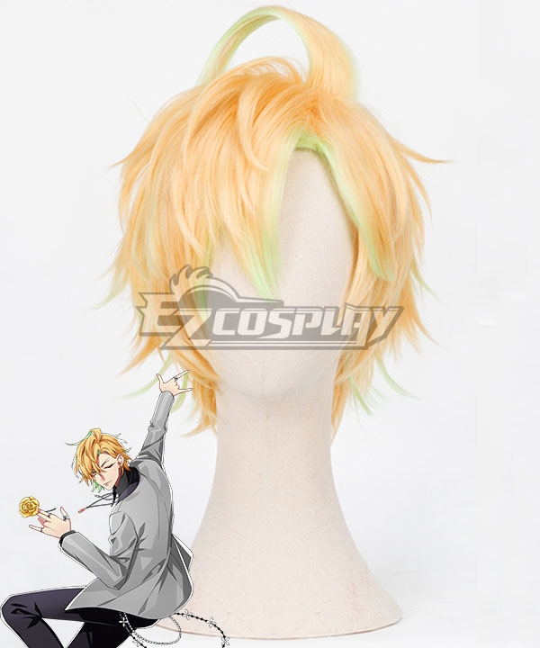 Hypnosis Mic Division Rap Battle Hifumi Izanami GIGOLO Golden Green Cosplay Wig