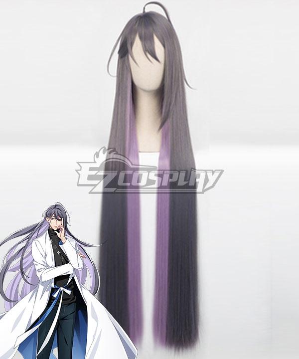 Hypnosis Mic Division Rap Battle Jakurai Junguji Ill-DOC Gray Purple Cosplay Wig