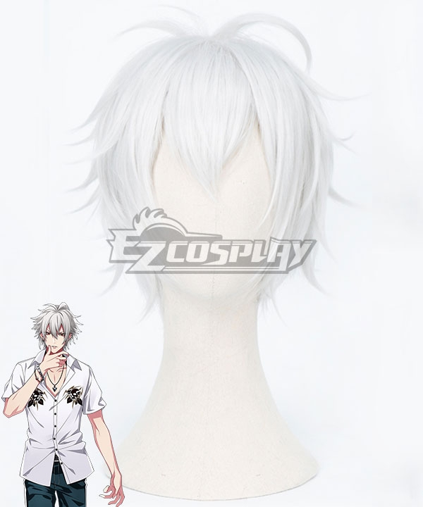 Hypnosis Mic Division Rap Battle Samatoki Aohitsugi MC.Hc Hardcore White Cosplay Wig