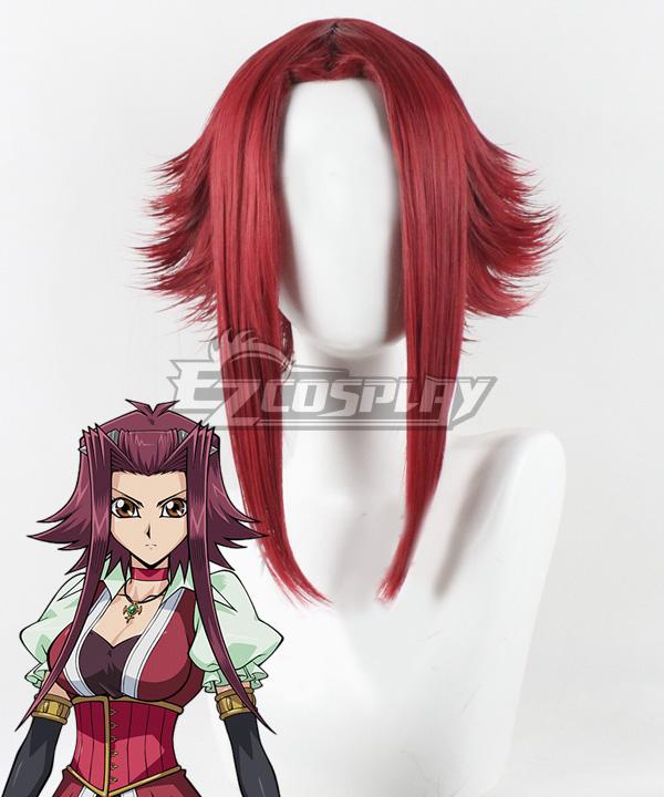 Yu-Gi-Oh! Yugioh 5D's Izayoi Aki Akiza Izinski Witch Of The Black Rose Red Cosplay Wig