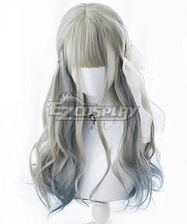 Japan Harajuku Lolita Series Gradient Linen Green Cosplay Wig-Only Wig