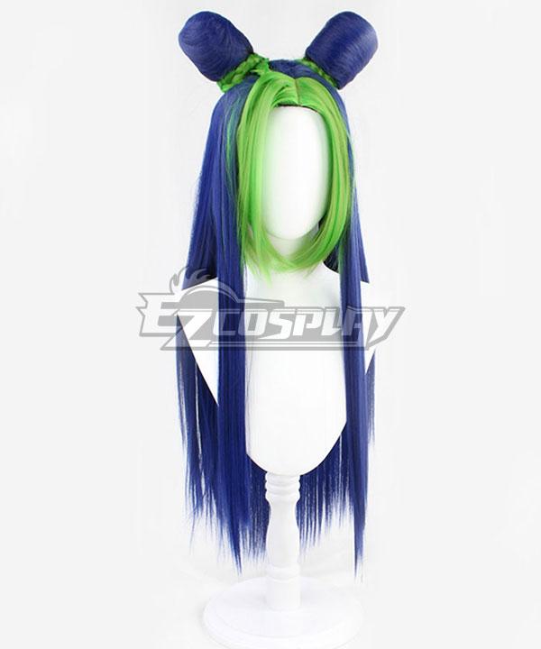 JoJo's Bizarre Adventure: Stone Ocean Jolyne Cujoh Blue Green Long Cosplay Wig