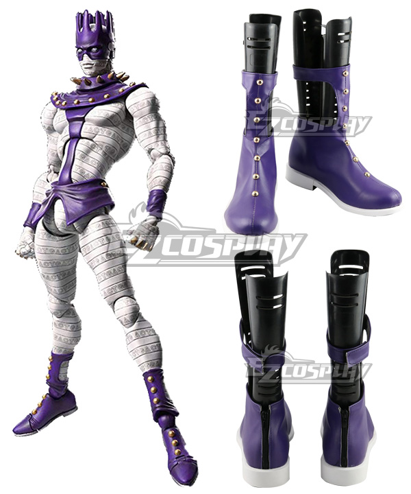 Jojos Bizarre Adventure White Snake Purple Shoes Cosplay Boots