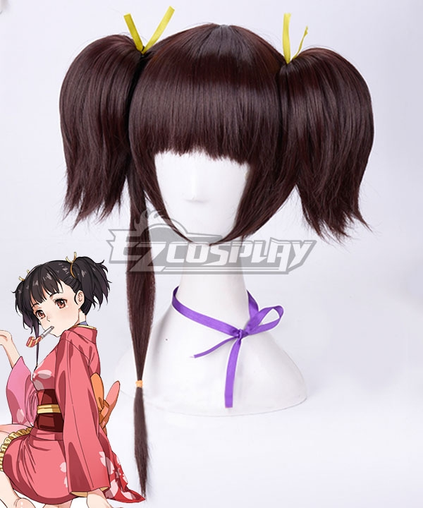 Kabaneri Of The Iron Fortress Mumei Red Brown Cosplay Wig