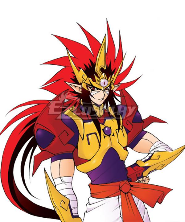 Kishin Douji ZENKI Zenki Black Red Cosplay Wig