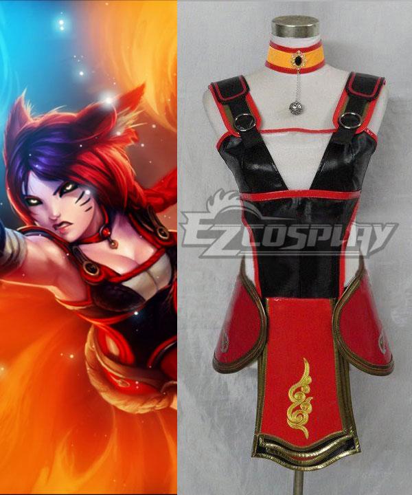 League of Legends the Nine-Tailed Fox Foxfire Ahri Cosplay Costume