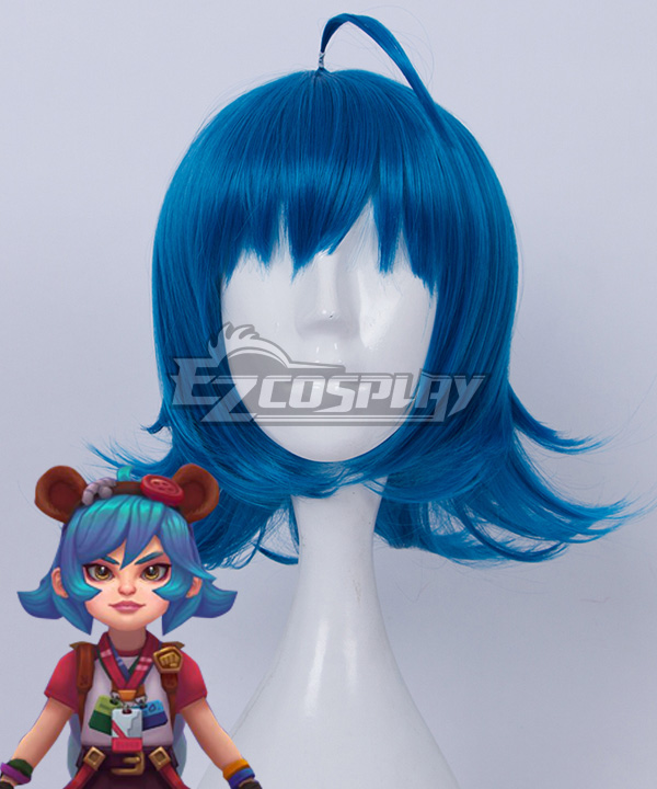League of Legends LOL Annie 10th Anniversary Blue Cosplay Wig