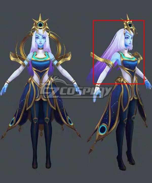 League Of Legends LOL Cosmic Lux Silver Purple Cosplay Wig