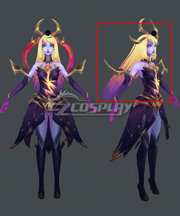 League Of Legends LOL Dark Cosmic Lux Golden Purple Cosplay Wig