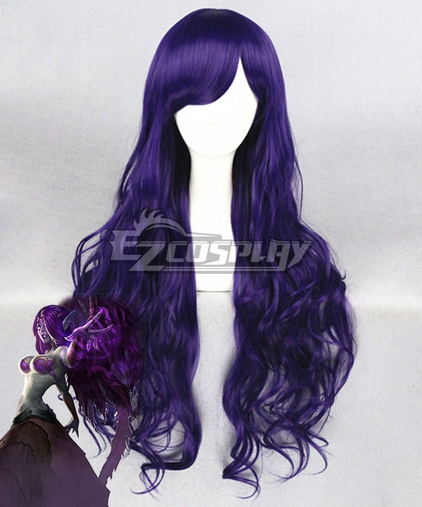 League Of Legends LOL Fallen Angel Bewitching Morgana History Purple Cosplay Wig
