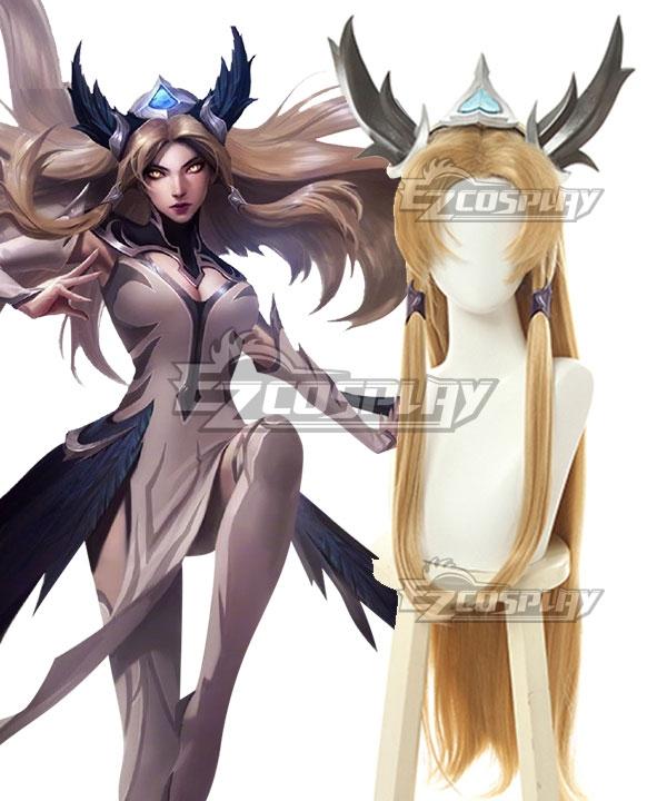 League Of Legends LOL Invictus Gaming's World Champion Skin The Blade Dancer Irelia Golden Cosplay Wig