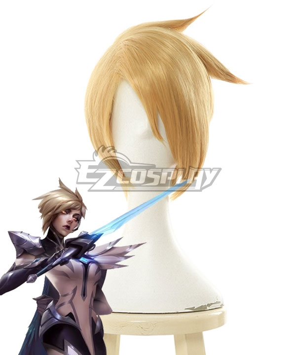 League Of Legends LOL Invictus Gaming¡¯s World Champion The Grand Duelist Fiora Laurent Golden Cosplay Wig