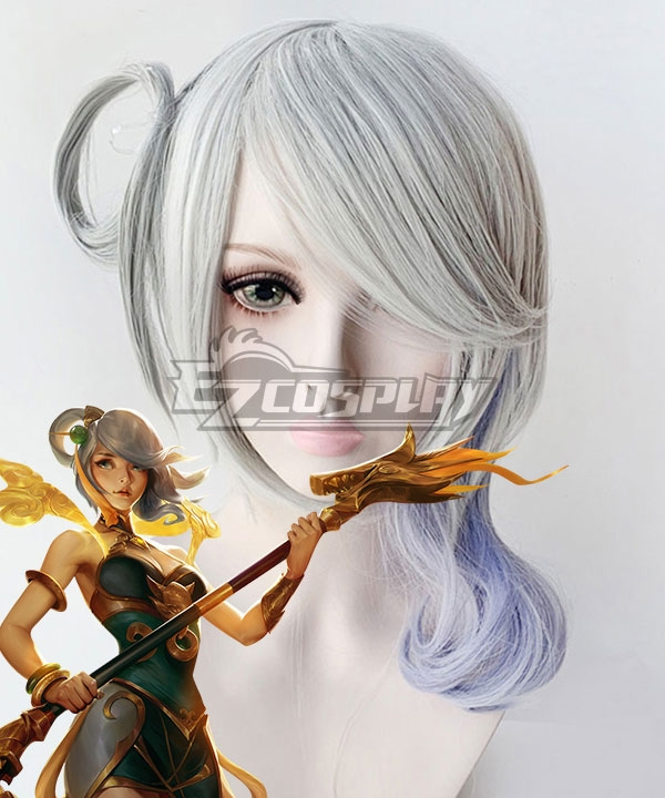 League Of Legends LOL Luxanna Crownguard The Lady Of Luminosity Silver Cosplay Wig