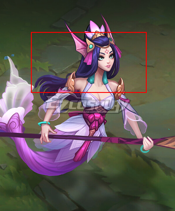 League of Legends Nami Purple Cosplay Wig