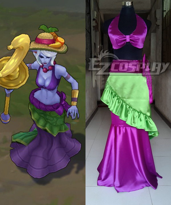 League of Legends LOL Soraka Sub Star Nami The Tidecaller Cosplay Costume