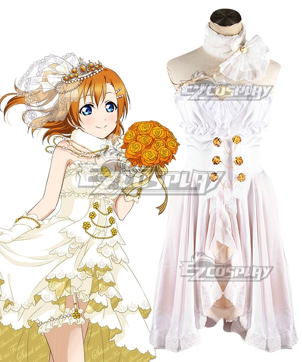 Love Live! Lovelive! Wedding Bride Dress Party Dress Honoka Kosaka Cosplay Costume