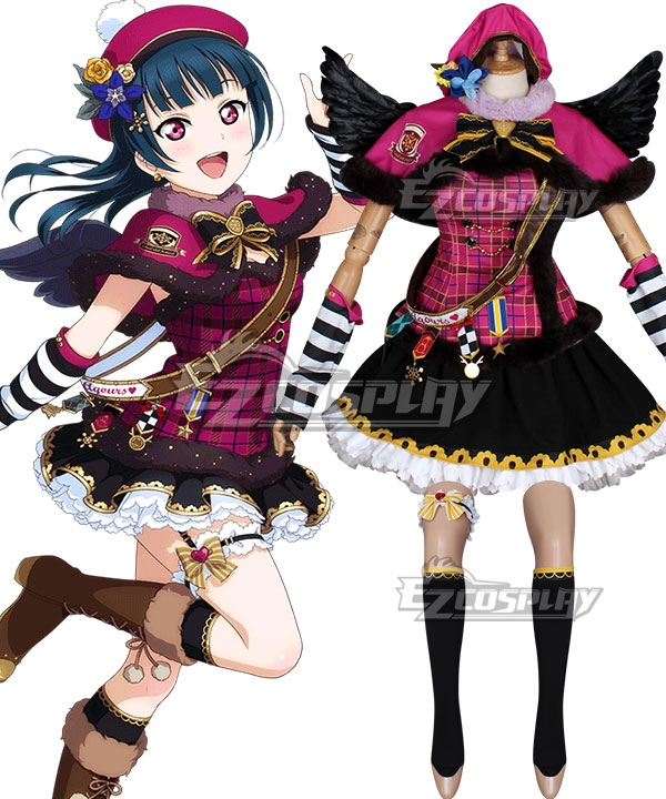 Love Live Sunshine 2018 Anime Aqours Yoshiko Tsushima Christmas Choir Uniform Cosplay Costume