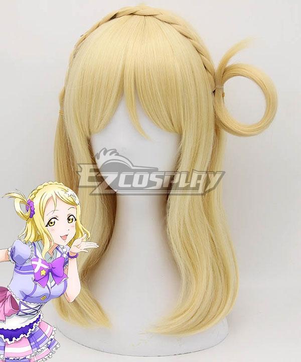 Love Live! Sunshine!! Mari Ohara Golden Cosplay Wig