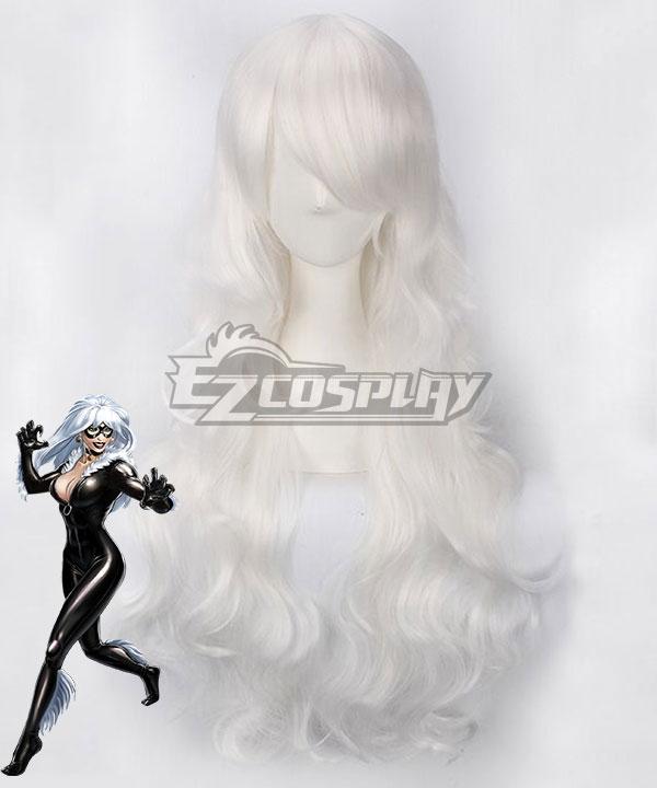 Marvel Comics Black Cat Felicia Hardy White Cosplay Wig