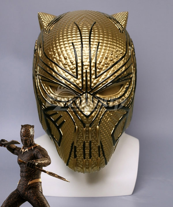 Marvel Movie Black Panther 2018 Erik Killmonger Halloween Mask Cosplay Accessory Prop