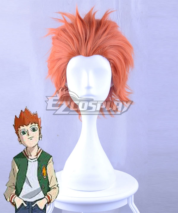 Mob Psycho 100 Season 2 Shou Suzuki Orange Red Cosplay Wig