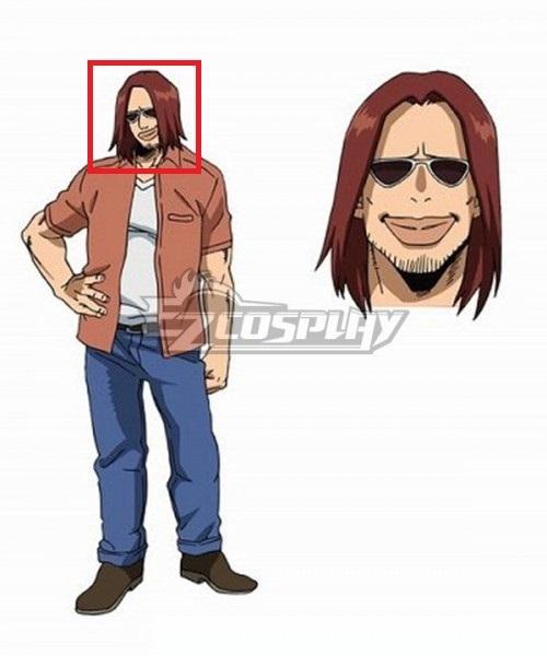 My Hero Academia Boku No Hero Akademia Magne Kenji Hikiishi Red Brown Cosplay Wig