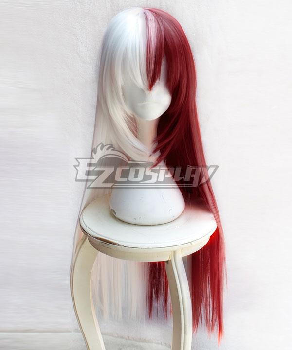 My Hero Academia Boku No Hero Akademia Shoto Todoroki Female Red White Long Cosplay Wig