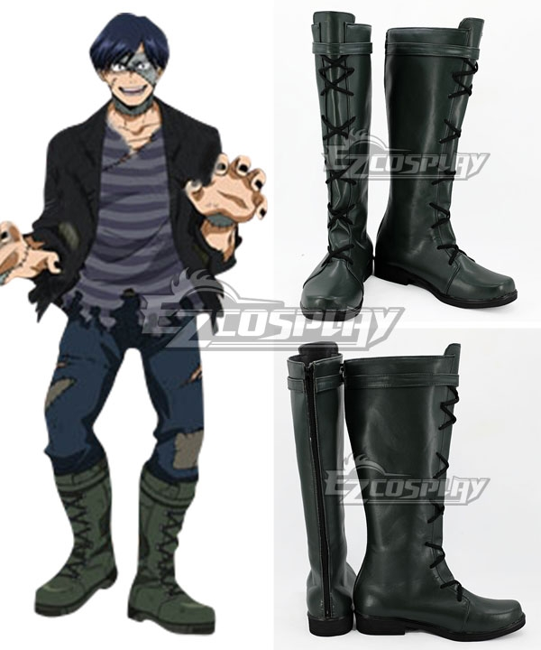 My Hero Academia Boku no Hero Akademia Tenya Iida Halloween Deep Grey Shoes Cosplay Boots