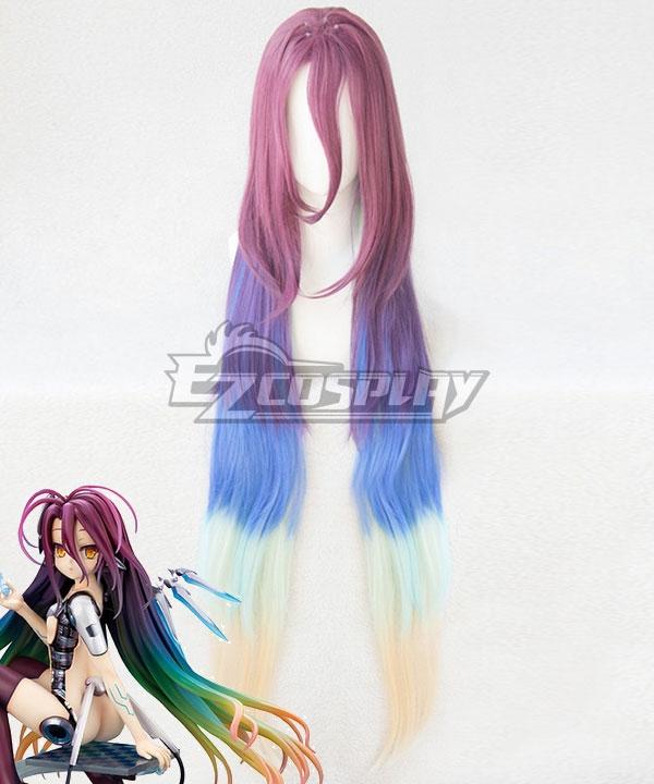 No Game No Life: Zero Shuvi Dora Purple Blue Yellow Cosplay Wig