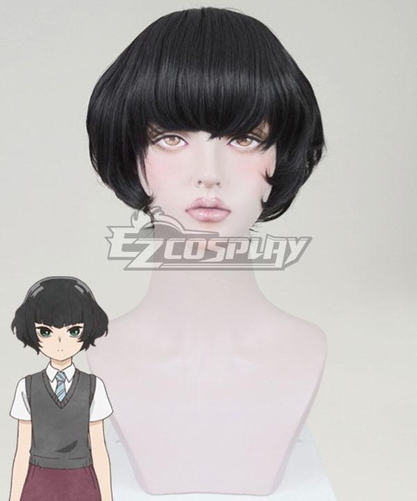 O Maidens in Your Savage Season Araburu Kisetsu no Otome-domo yo Hitoha Hongo Black Cosplay Wig