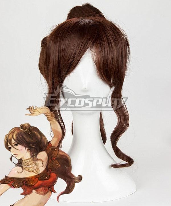 Octopath Traveler Primrose Azelhart Brown Cosplay Wig