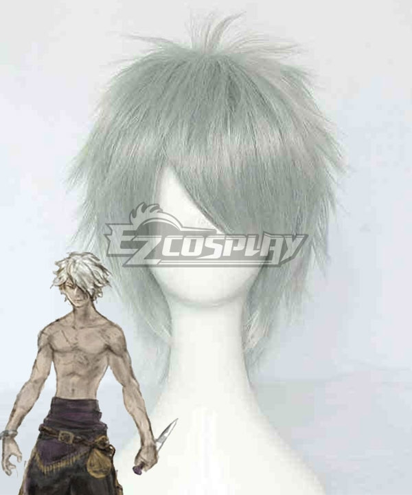 Octopath Traveler Therion Sliver White Cosplay Wig