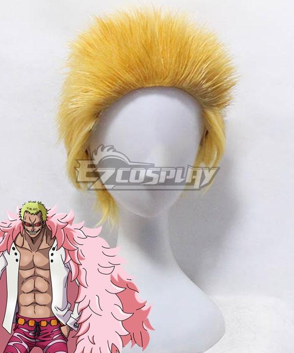 One Piece Donquixote Doflamingo Golden Cosplay Wig