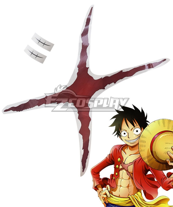 One Piece Monkey D Luffy Tattoo stickers Cosplay Accessory Prop