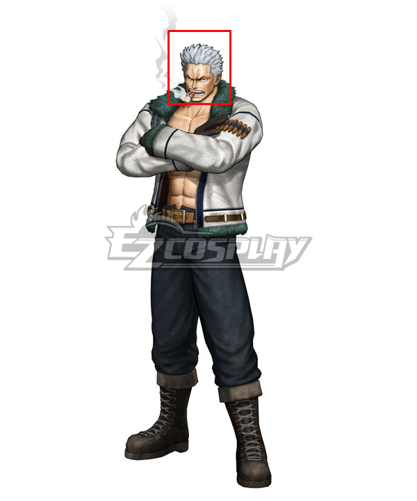 One Piece Smoker Silver Cosplay Wig