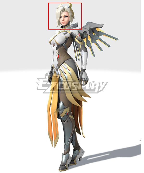 Overwatch 2 OW Mercy Light Golden Cosplay Wig