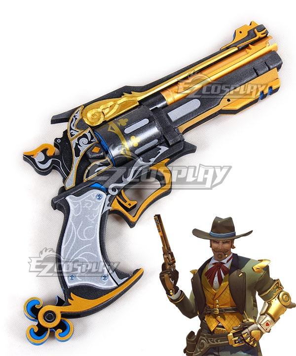 Overwatch OW Jesse McCree Gambler Gun Cosplay Weapon Prop