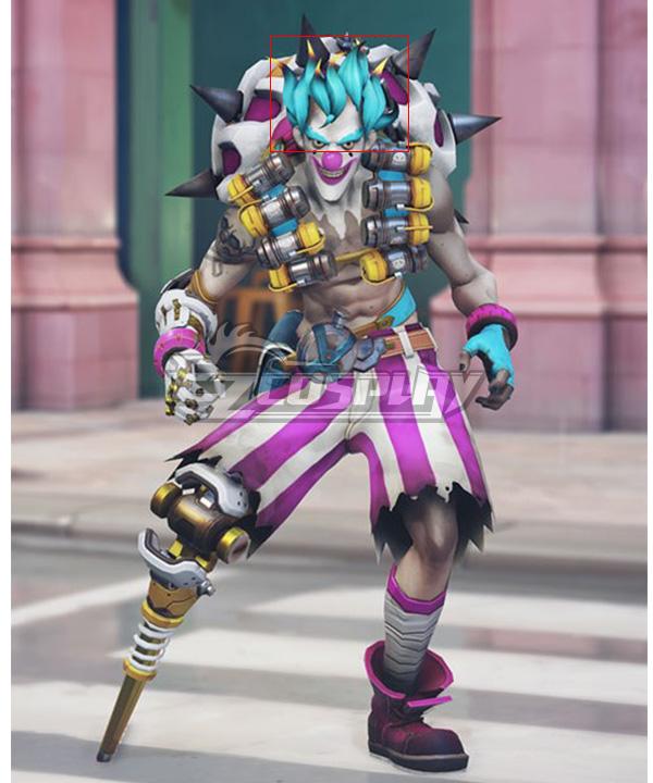 Overwatch OW New Clown Junkrat Green Cosplay Wig