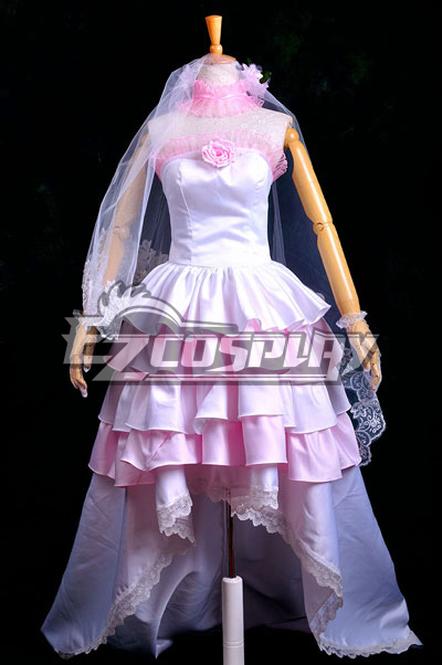Vocaloid Miku Gorgeous Wedding Dress Lolita Cosplay Costume Deluxe-P2